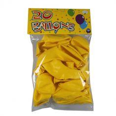 20 Ballons de Baudruche Jaune