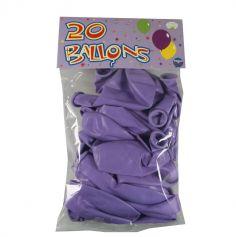 20 Ballons de Baudruche Lilas