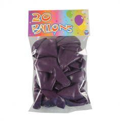 20 Ballons de Baudruche Prune