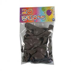 20 Ballons de Baudruche Taupe
