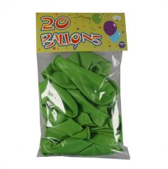 20 Ballons de baudruche Vert  Tilleul