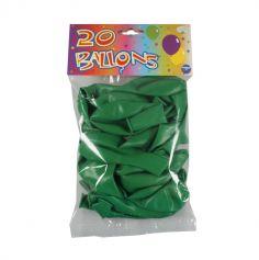 20 Ballons de Baudruche Vert Prairie