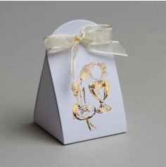 10 Pochettes à Dragées de Communion - Calice Doré