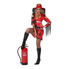 Pompier zombie femme - Taille au choix