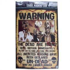 Poster Zombie - Warning