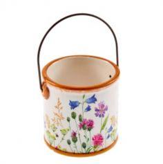 Pot en Céramique - Fleurs Sauvages | jourdefete.com