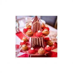 Présentoir à Cupcakes - 2 étages - Circus Vintage