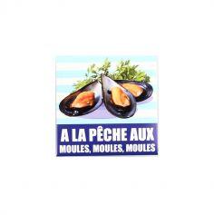 """Préservatif humoristique """"A la pêche aux moules, moules, moules"""""""