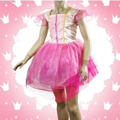 Robe de Princesse Rose Fille