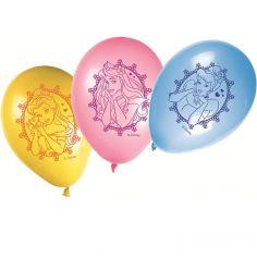 8 Ballons de Baudruche Princesses Disney