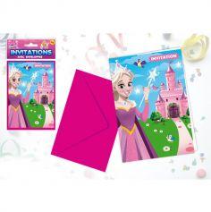 Cartes d'invitation + Enveloppes P'tite Princesse