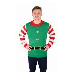 Pull de Noël - Lutin - Homme - Taille au choix