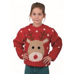 Pull de Noël pour Enfant de Renne - Taille au Choix