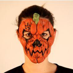Masque en Latex de Citrouille Démoniaque