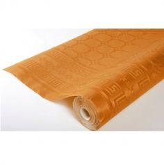 Rouleau de Nappe Damassé Orange - 25 Mètres