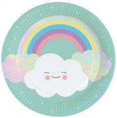 assiettes-carton-anniversaire-mignon-nuage | jourdefete.com