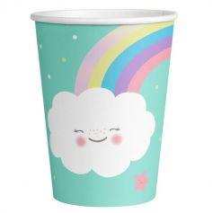 gobelets-verres-nuages-arcs-en-ciel | jourdefete.com