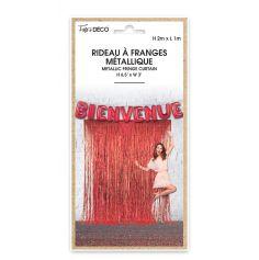 Rideau à Franges Métallique - 2m - Couleur au Choix