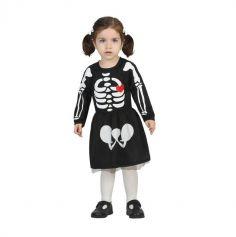 Robe Squelette pour fille - Taille au Choix