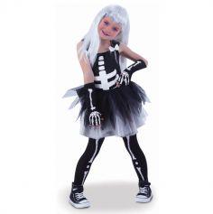 Robe Tutu Squelette pour fille - Taille au Choix