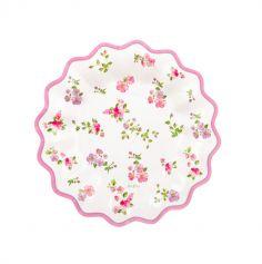 assiettes-fleurs-romantique | jourdefete.com