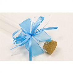 6 Nœuds en satin avec attache élastique - Turquoise