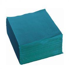 100 serviettes ouate de cellulose couleur bleu canard de 38 cm | jourdefete.com