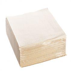 100 serviettes ouate de cellulose couleur grège de 38 cm | jourdefete.com