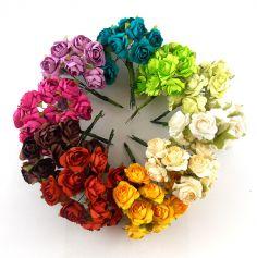 Petit Bouquet de 12 Roses - Coloris au Choix