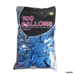 100 Ballons de Baudruche couleur Bleu