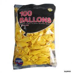 100 Ballons de Baudruche couleur Jaune