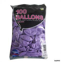 100 Ballons de Baudruche couleur Lilas