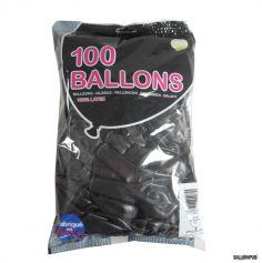 100 Ballons de Baudruche couleur noire