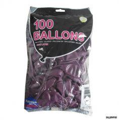 100 Ballons de Baudruche couleur Prune