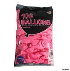 100 Ballons de Baudruche couleur Rose