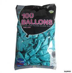 100 Ballons de Baudruche couleur Turquoise