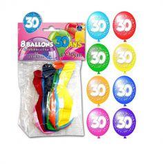 Ballons de Baudruche Anniversaire 30 ans