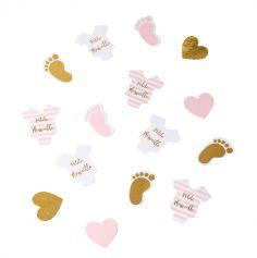 Sachet de 100 confettis de table - Dorure - Petite Merveille ou Petit Trésor