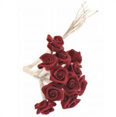 Sachet de 48 petites roses en satin - Couleur au Choix