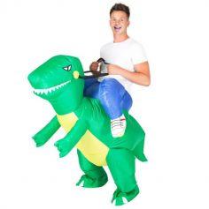 Déguisement Gonflable de Dinosaure pour Adulte - Raptor