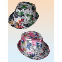 Chapeau Papillon Paillette - Coloris au Choix
