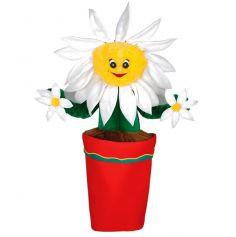 Mascotte Fleur Dans Son Pot