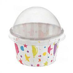 """6 Mini Caissettes à Cupcakes """"Anniversaire Festif"""""""