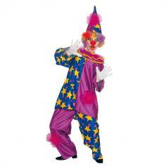 Clown Bleu et Violet adulte - Taille au Choix