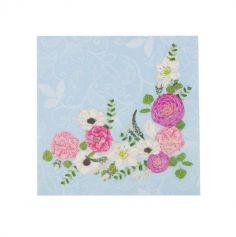 serviettes-secret-garden-fleurs-33cm|jourdefete.com