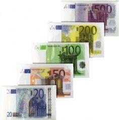 Serviettes Billet de 20 Euros