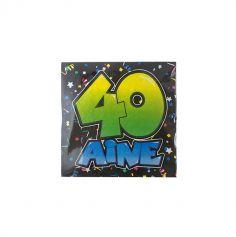 """Paquet de 20 serviettes """"40aine"""""""