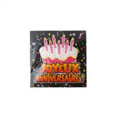 """Paquet de 20 serviettes """"Joyeux anniversaire"""""""