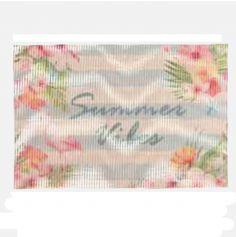 """Set de table 30x45 imprimé """"Summer Vibes"""" - Flamant rose"""