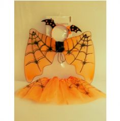tutu-orange-ailes-halloween-enfant | jourdefete.com